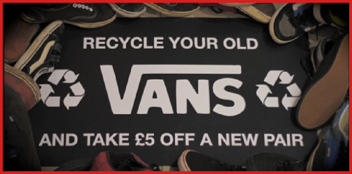 Recycle your old VANS and take £5 off a new pair!